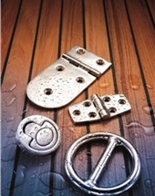 Hinges, handles, hooks and rings